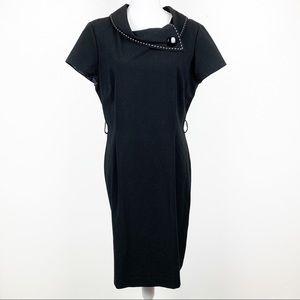 Tahari ASL Essentials Black Short Sleeve Dress